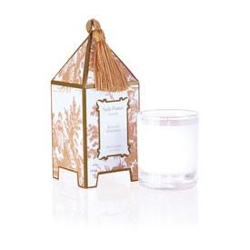 Elegant Gardenia Classic Toile Mini Pagoda Box Candle