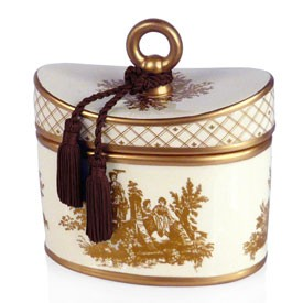 Japanese Quince Classic Toile Ceramic Two-Wick Candle