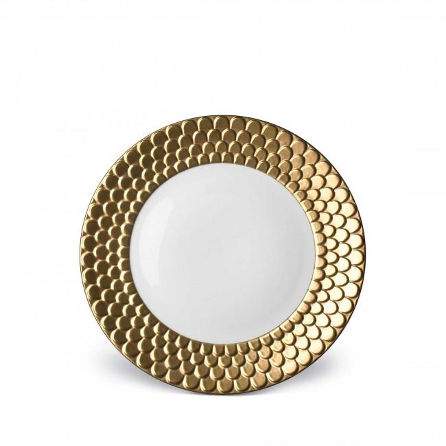 Aegean Dessert Plate, Gold