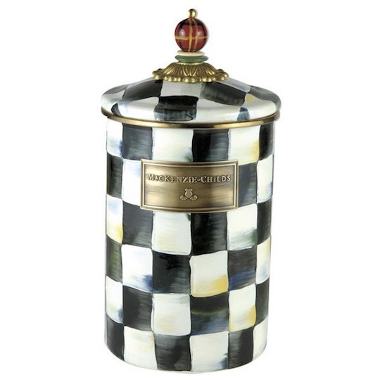MacKenzie-Childs, Courtly Check Enamel Canister, Large