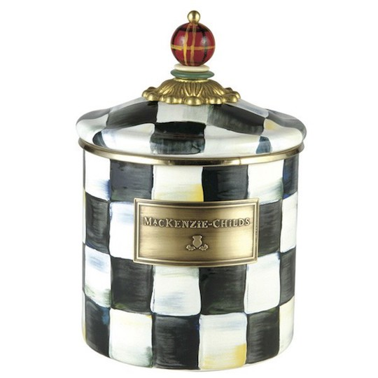 MacKenzie-Childs, Courtly Check Enamel Canister, Small