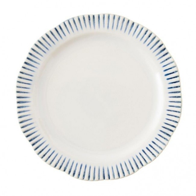 Juliska, Sitio Stripe Indigo Dinner Plate