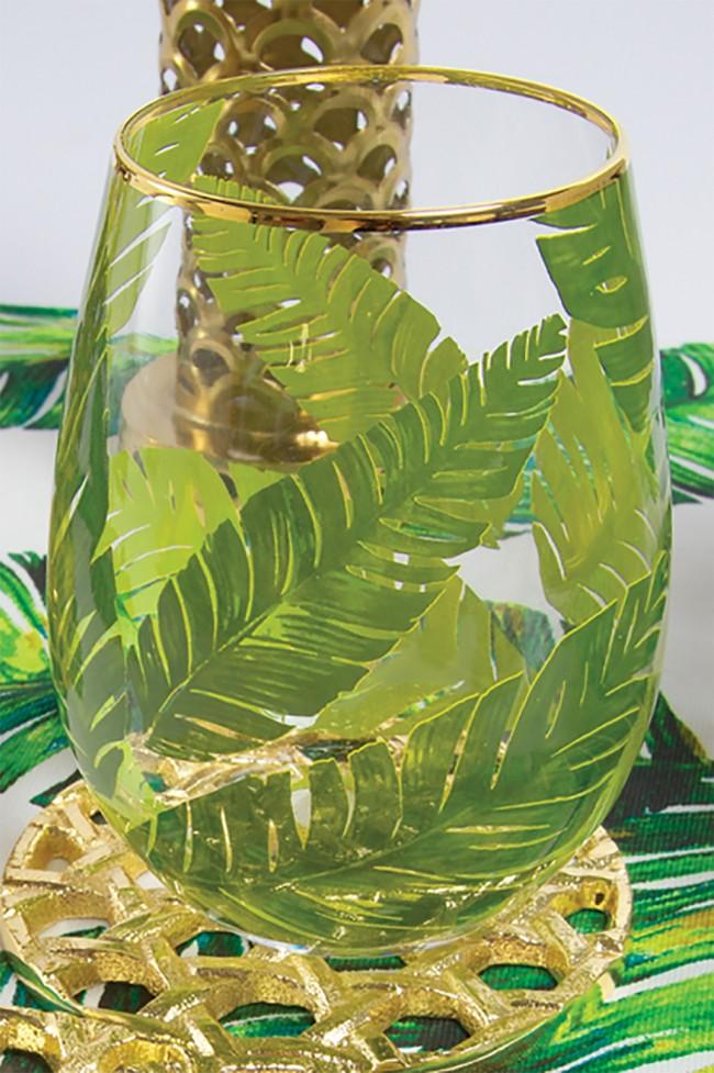 Palm Stemless Wine Glass