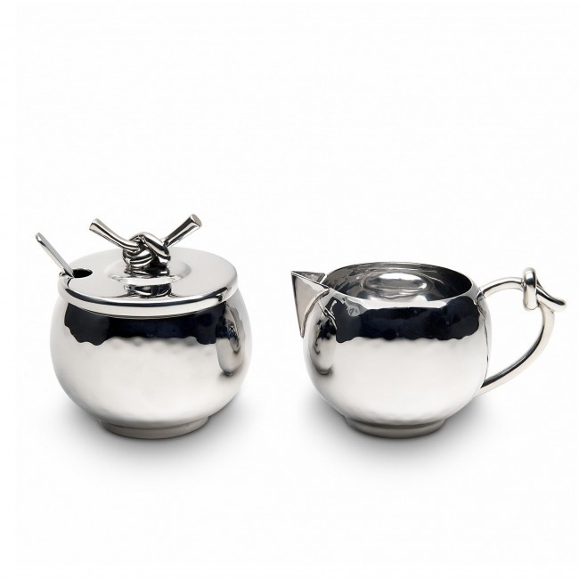 Mary Jurek, Helyx Cream and Sugar Set with Knot