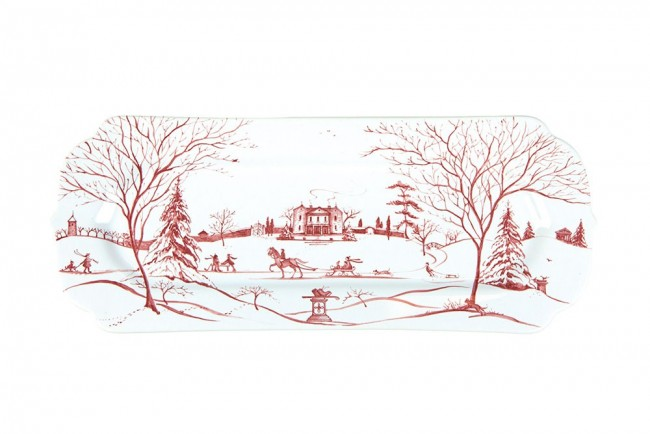 Juliska, Country Estate Winter Frolic Ruby Hostess Tray Main House
