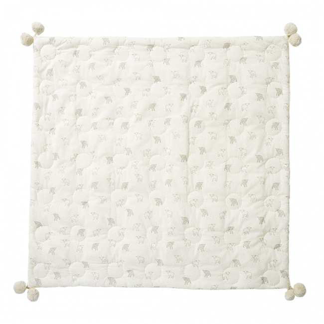 Pehr, Little Lamb Quilted Pom Pom Blanket