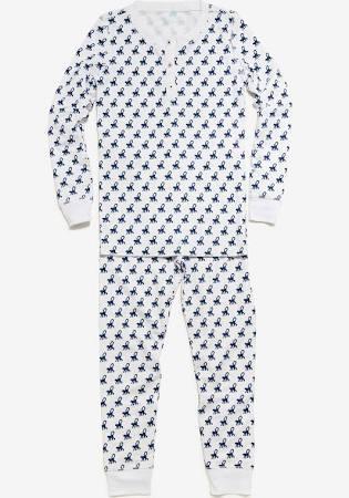 Roberta Roller Rabbit, Mini Monkey Pajama Set - Navy