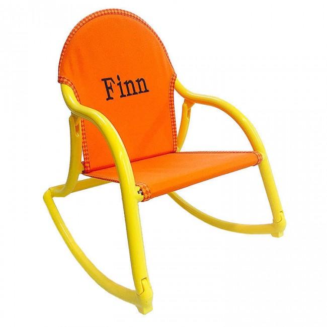 Orange Canvas, Rocking Chair