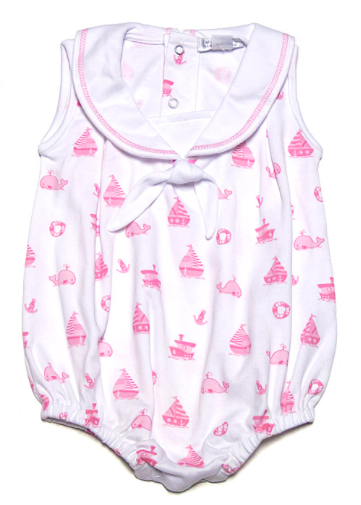 Out to Sea Bubble with Collar, Pink