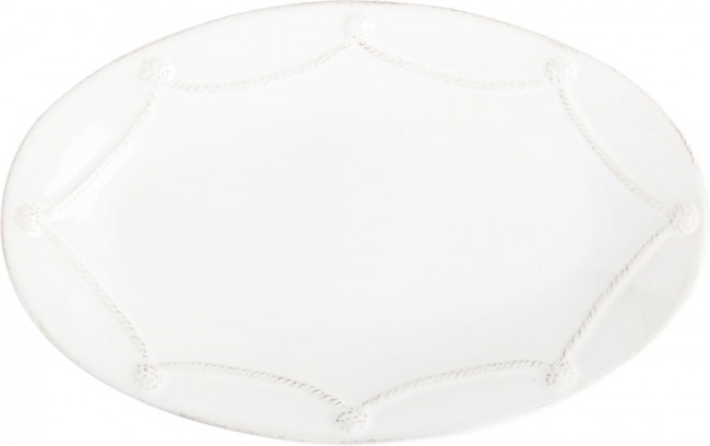 Berry and Thread Whitewash Oval Platter, 12""