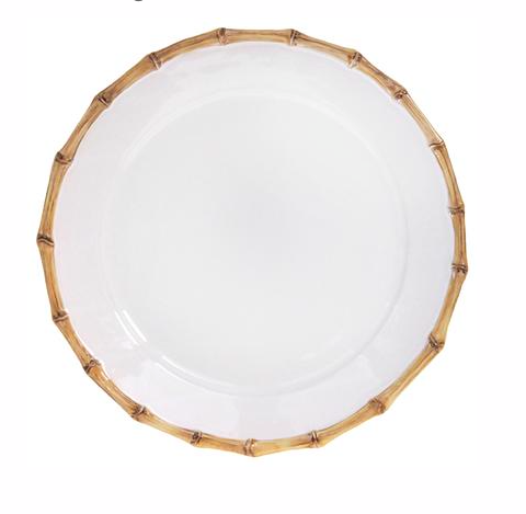 Classic Bamboo Round Charger