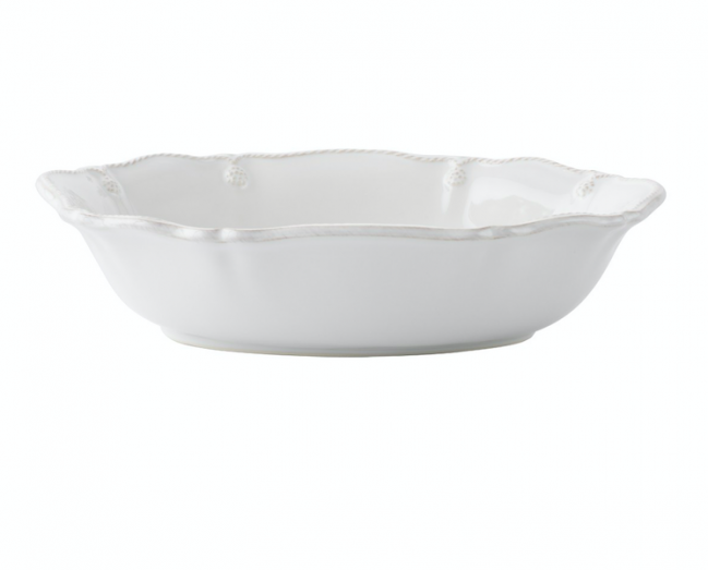 "Berry and Thread Whitewash 10"" Oval Serving Bowl"