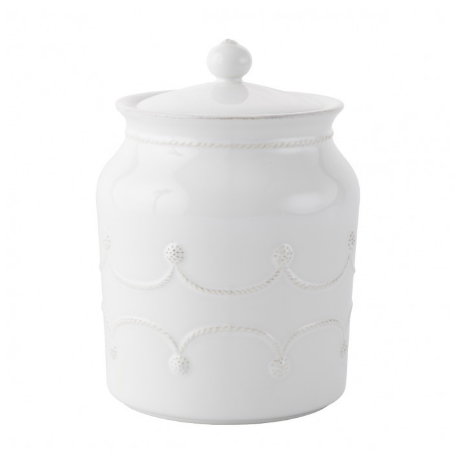 Berry and Thread Whitewash Cookie Jar