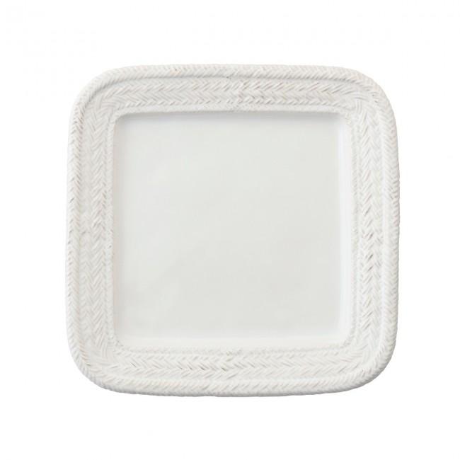 Juliska, Le Panier Whitewash Square Dinner Plate