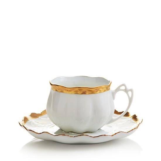 Anna Weatherley, Anna's Golden Patina Teacup & Saucer