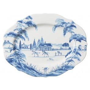 """Delft Blue 15"""" Serving Platter Stable"""