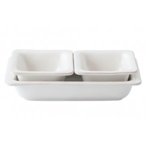 Juliska, Puro Whitewash 3pc. Hostess Set
