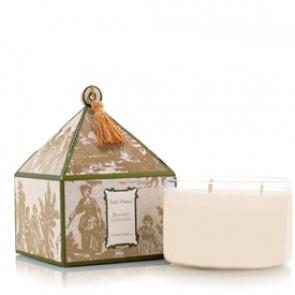 Elegant Gardenia Classic Toile Three-Wick Candle