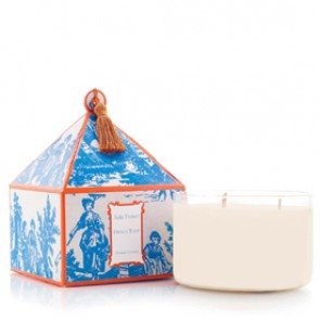 French Tulip Classic Toile Three-Wick Candle