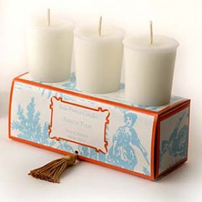 French Tulip Classic Toile Votive Candles