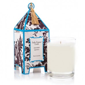 Japanese Quince Classic Toile Pagoda Box Candle