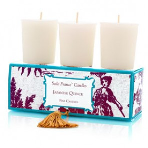 Japanese Quince Classic Toile Votive Candles