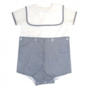 Auraluz, Navy Check Boy Suit