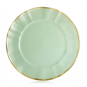 Anna Weatherley Colored Chargers, Mint Green