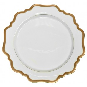 Anna Weatherley, Antique White with Gold Dinner Plate