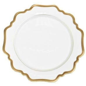 Anna Weatherley, Antique White with Gold Bread and Butter Plate