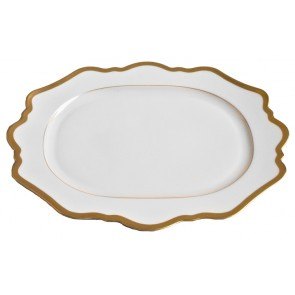 Anna Weatherley, Antique White with Gold Oval Platter