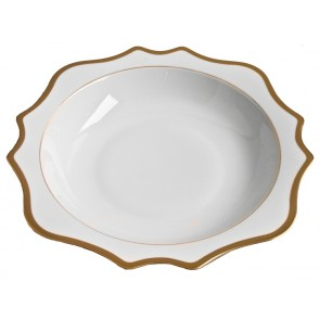 Anna Weatherley, Antique White with Gold Salad Serving Bowl