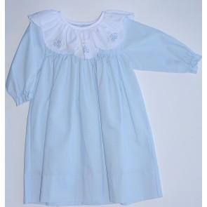Auraluz, Blue Scallop Flowers Dress