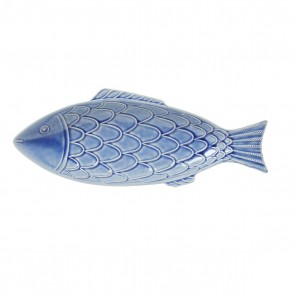 "Berry and Thread Delft Blue Crackle ""Fish"" Platter"