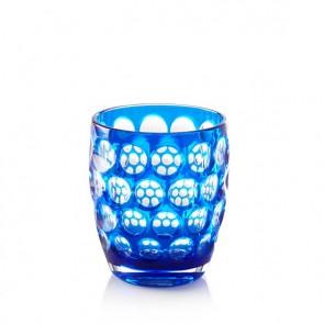 Mario Luca Giusti Lente Tumbler Glass, Blue