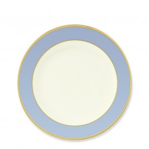 Pickard, Color Burst Blue with Gold Trim Bread and Butter Plate