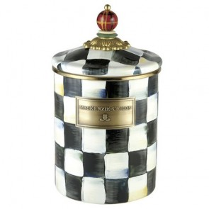 MacKenzie-Childs, Courtly Check Enamel Canister, Medium