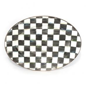 Mackenzie-Childs, Courtly Check Enamel Oval Platter, Medium