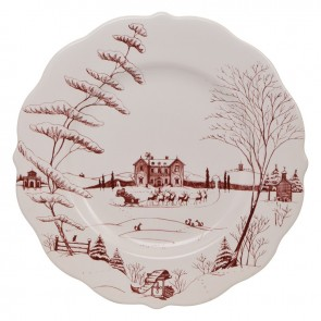 Juliska, Country Estate Winter Frolic Ruby Dinner Plate
