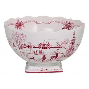 Juliska, Country Estate Winter Frolic Ruby Centerpiece Bowl Christmas Celebration