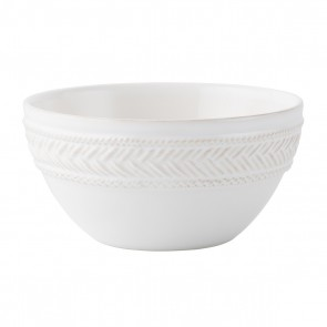 Juliska, Le Panier Whitewash Cereal/Ice Cream Bowl