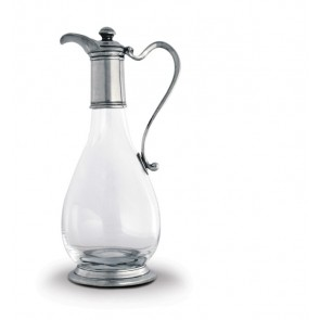Classic Pewter and Glass Wine Decanter