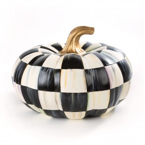 Courtly Check Squashed Pumpkin, Medium