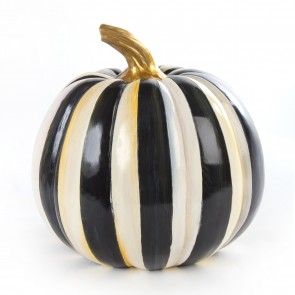 Courtly Stripe Pumpkin, Large