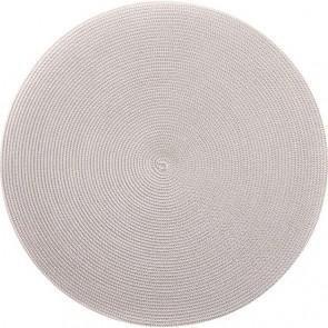 Deborah Rhodes 2-Tone Round Placemats, Silver/Sand