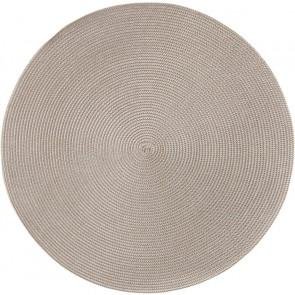 Deborah Rhodes 2-Tone Round Placemats, Silver/Dust