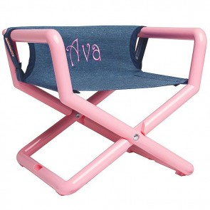 Denim Pink Twill, Junior Director Chair