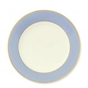 Pickard, Color Burst Blue with Gold Trim Dinner Plate