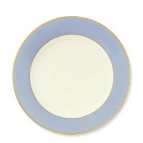 Pickard, Color Burst Blue with Gold Trim Dinner Plate