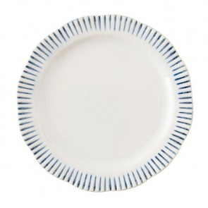 Juliska, Sitio Stripe Indigo Dinner Plate